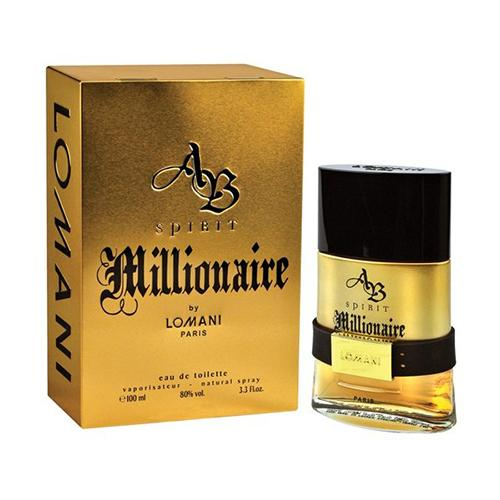 Lomani Spirit Millionaire  100ml EDT Spray  For Men By Lomani