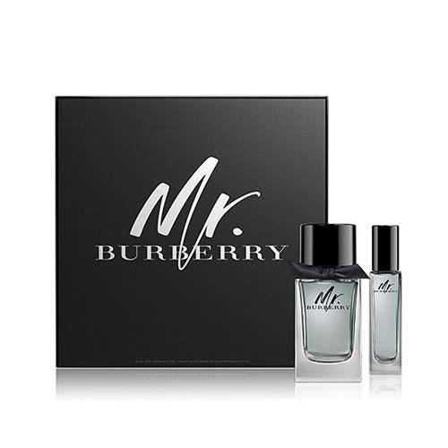 Mr Burberry 2Pc 100ml/30ml EDT Spray for Men by Burberry