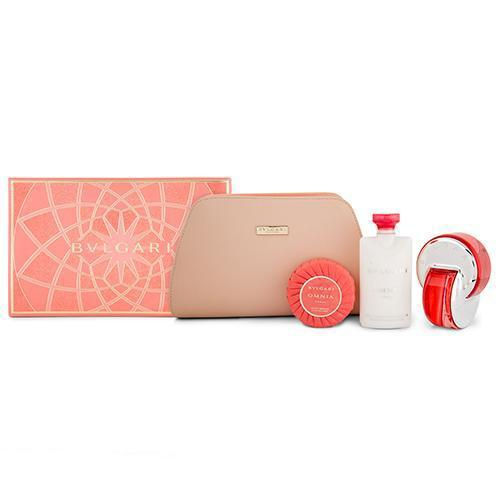 Omnia Coral 4PC Gift Set For Women By Bvlgari