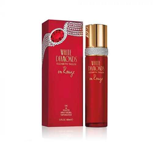 White Diamonds En Rouge 100ml EDT Spray for Women By Elizabeth Taylor