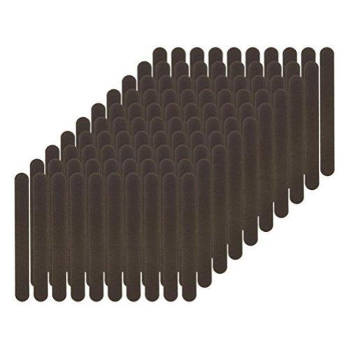 Flowery Disposable Nail File Cushion Core 100/180 Grit, Black, 100 Count