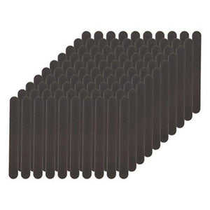 Flowery Disposable Nail File Cushion Core 180/400 Grit, Black, (Pack of 100)