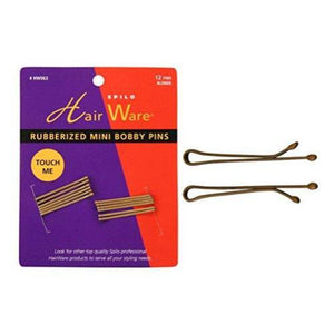 HAIR WARE Rubberized Mini Bobby Pins Blonde