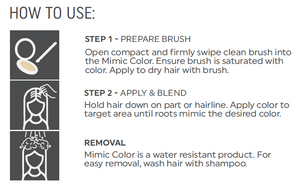 Mimic Color Medium Brown Root Cover Up Kit - MimicColor