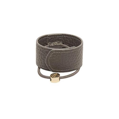 1907 Leather Hair Cuff, Grey
