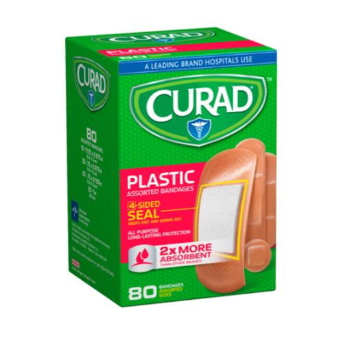 Curad Plastic Band Aids- 80 ct