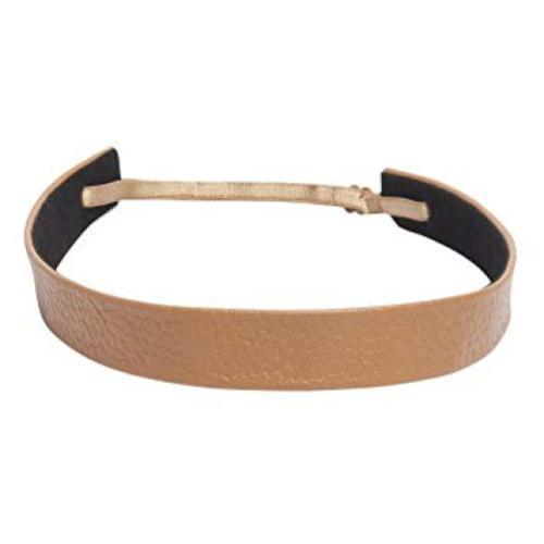 1907 Pebbled Leather Wide Headband
