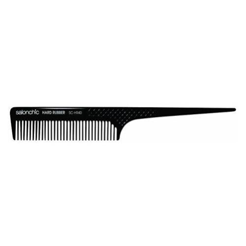 Salonchic Rat Tail Hard Rubber Comb 8