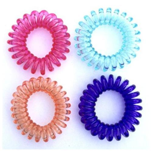 SwirlyDo Small Hair Ties, Multi-color 4 or 5 Pieces