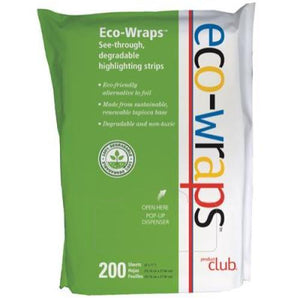 Eco-Wraps See-through Degradable Highlighting Strips - 200 Sheets