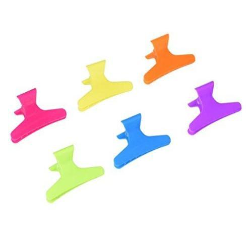 Soft 'N Style Neon Butterfly Clamps, 36 Count