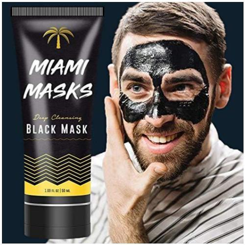 Miami Masks- Peel Off Facial Black Mask 1.69 oz.