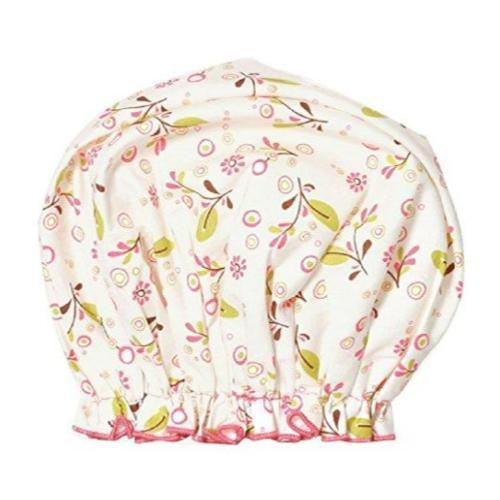 Spa Sister Bouffant Shower Cap, Olive Vines