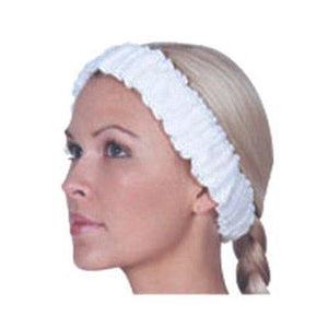 Scalpmaster Elasticized Spa Headband / White