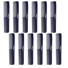 Load image into Gallery viewer, Cleopatra Dark Blue Styling Combs #400- 1 Dozen