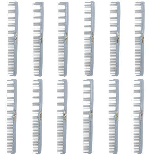 Cleopatra Light Grey Styling Combs #400- 1 Dozen
