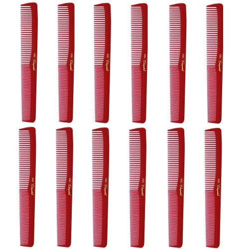 Cleopatra Red Styling Combs #400-1 Dozen