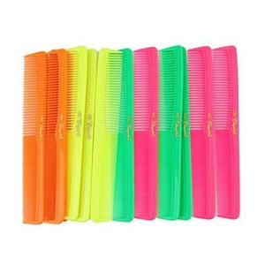 Cleopatra Neon Mix Styling Combs #400- 1 Dozen