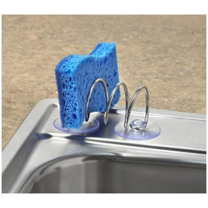 Spectrum Spiral Sink Suction Brush Holder- Silver