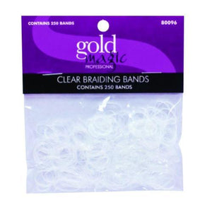 Gold Magic Elastic Braiding Bands- Clear