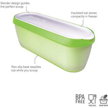 Load image into Gallery viewer, Tovolo Glide-A-Scoop Ice Cream Tub - Pistachio
