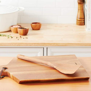 Tovolo Wooden Angled Turner Spatula- Olivewood