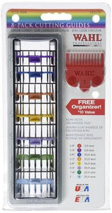 Wahl 8-Pack Color-Coded Cutting Guides with Organizer by Wahl - beautysupply123 - 1