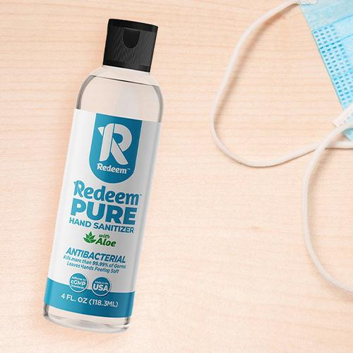 Redeem Pure Hand Sanitizer 4 oz.