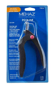Mehaz Professional Triple Cut Acrylic and Tip Cutter - beautysupply123