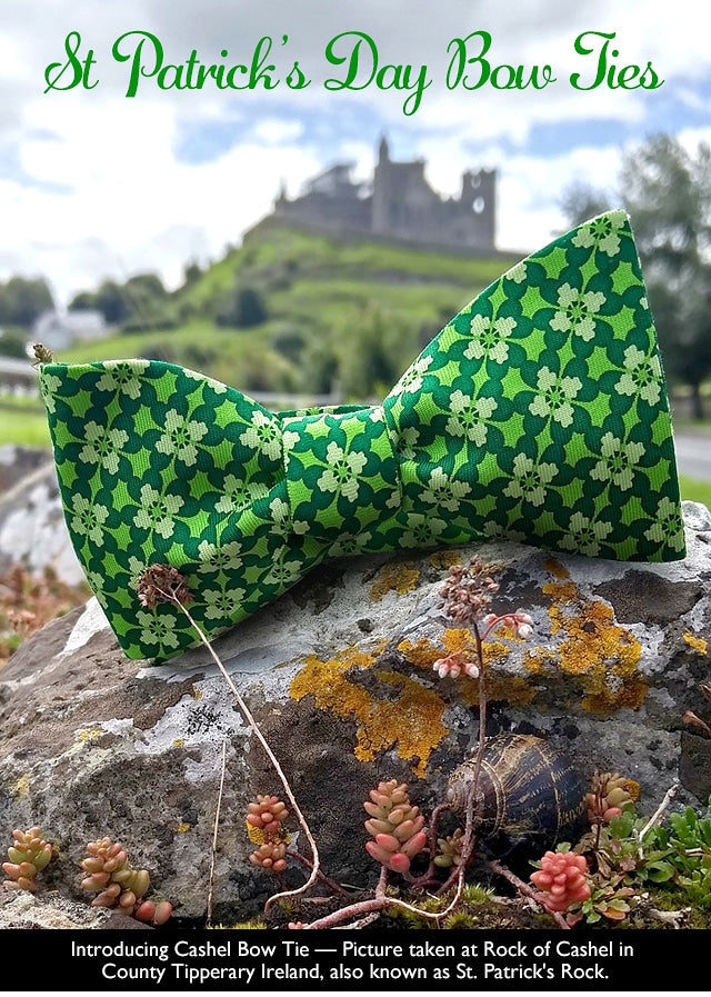 St Patrick's Day Clover Bow Tie
