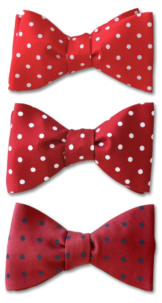 Red polka dots bow ties
