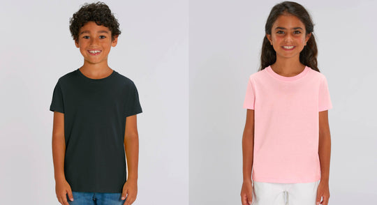 Le t-shirt enfant en print on demand, en Europe, avec Stanley/Stella.