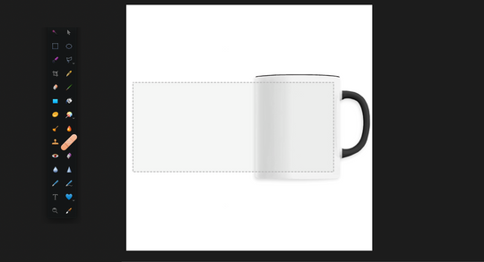 Mug panoramique en print on demand.