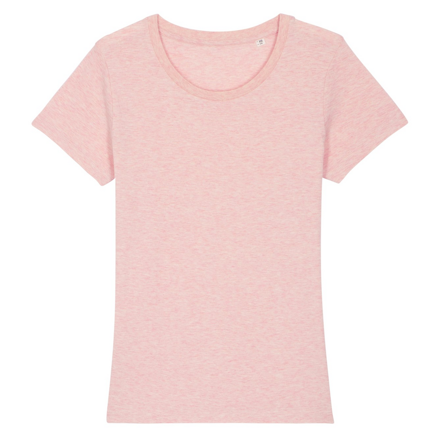 T-shirt Femme Stanley / Stella - 100% Coton BIO - Expresser - Rose chiné - Print on demand from Europe | T-Pop