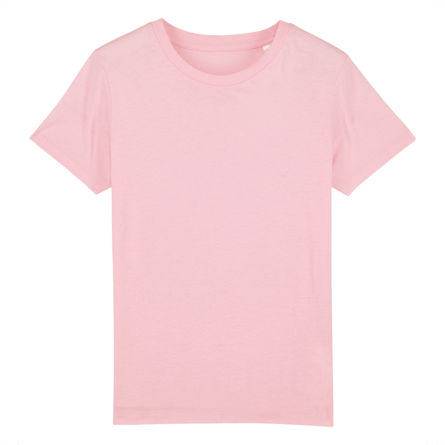 T-shirt enfant Stanley/Stella Mini creator - 100% coton bio - Rose - Print on demand from Europe | T-Pop