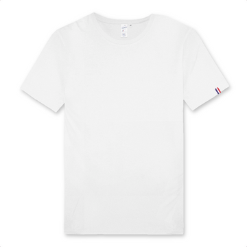 T-shirt Made In France 100% Coton Bio - Homme - Blanc - Print on demand from Europe | T-Pop