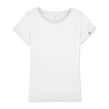 T-shirt Made In France 100% Coton Bio - Femme - Blanc - Print on demand from Europe | T-Pop