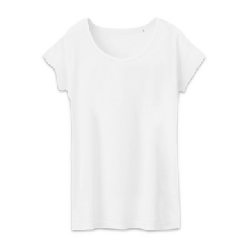 T-shirt Femme 100% Coton BIO - B&C - Blanc - Print on demand from Europe | T-Pop