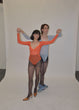 Load image into Gallery viewer, Orange Mesh Leotard