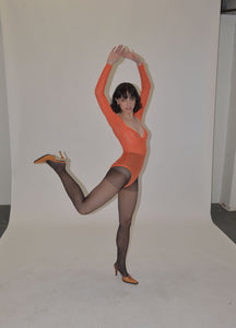 Orange Mesh Leotard