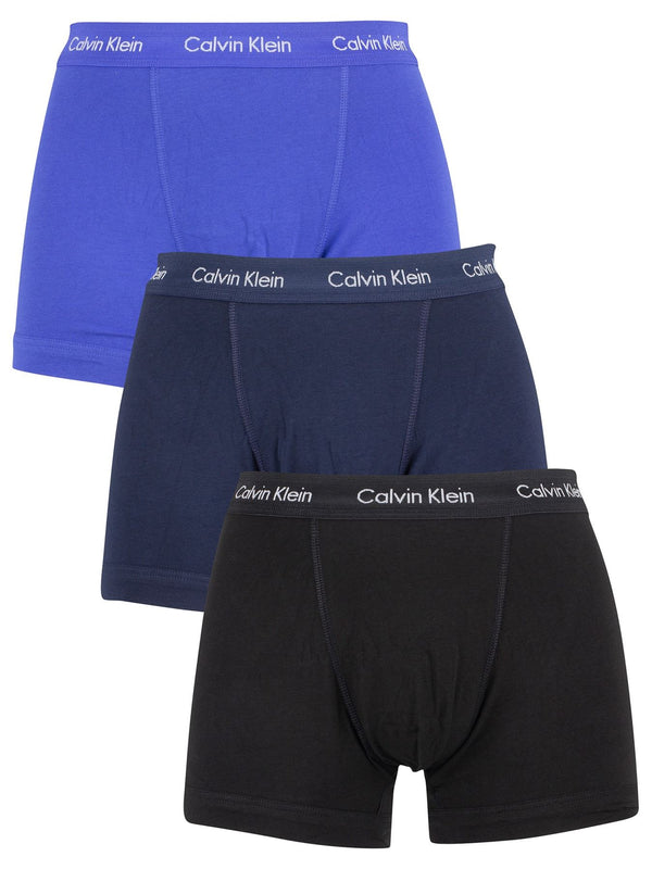 Calvin Klein Men's Underwear Trunks Briefs Boxers 3 Pack Blue
