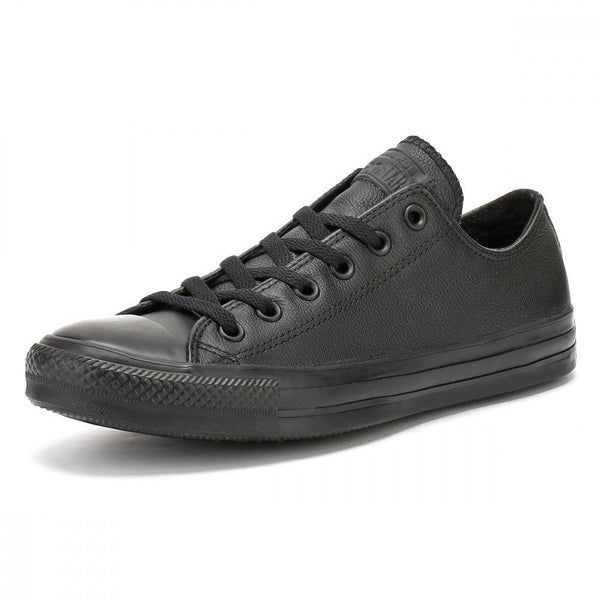 Men's Converse Taylor Chuck Leather Plimsolls Classic Trainers Black