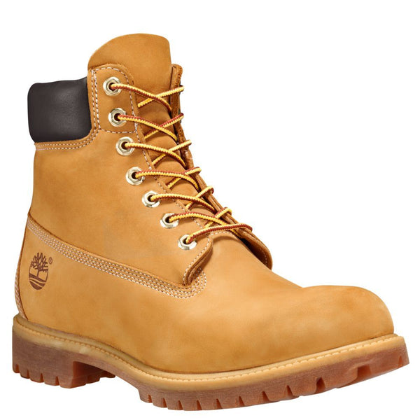 Timberland Mens 6 Inch Classic Leather Boots Trainers Wheat