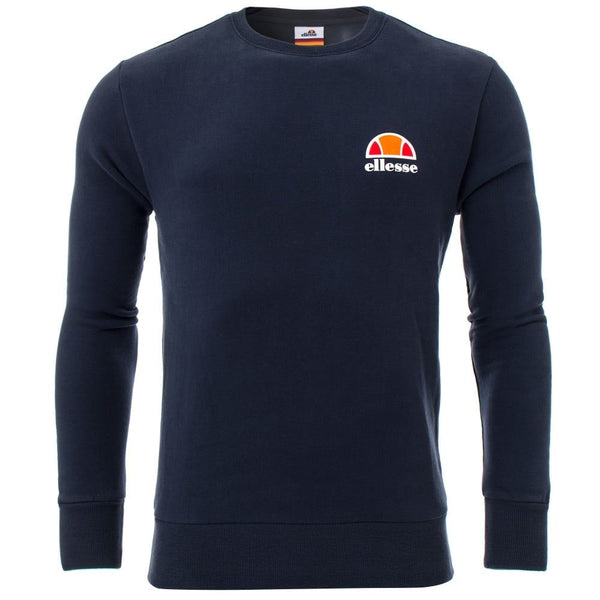 Ellesse Mens Diveria Pullover Sweatshirt Gym Running Casual Jumper Navy