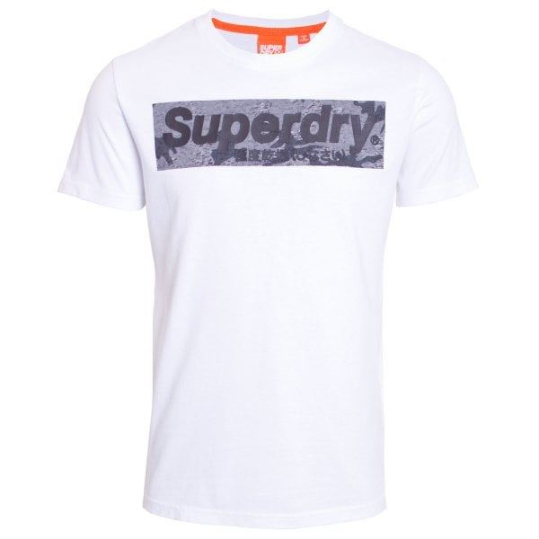 Superdry Mens Camo International Infill Tee T-Shirt Optic