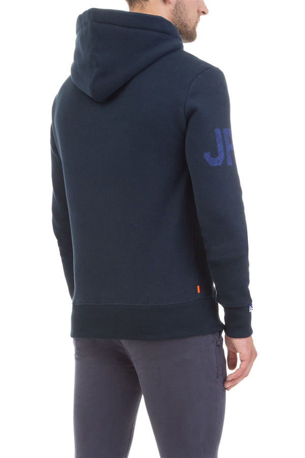 Superdry Mens Reworked Classic Pullover Hoodie Casual Top   Three Pointer Navy