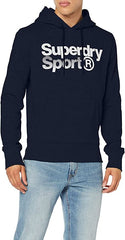Superdry Mens Core Sport Overhead Smart Hoodie Gym Pullover Navy