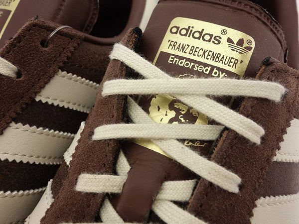 Adidas Mens Originals Beckenbauer Classic Sneakers Retro Trainers Brown