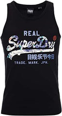 Superdry Mens VL Infill Vest Gym Running Tank Top Pullover   Black