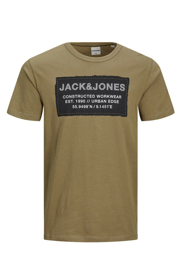 Jack&Jones Mens Crew Neck Tee Slim Fit T-Shirt Active Sports Top Kangaroo